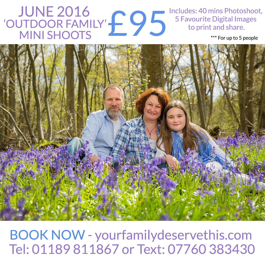 Book an Outdoor Family MiniShoot in JUNE 2016. Great fun for families who love being outside. Contact us at   yourfamilydeservethis.com