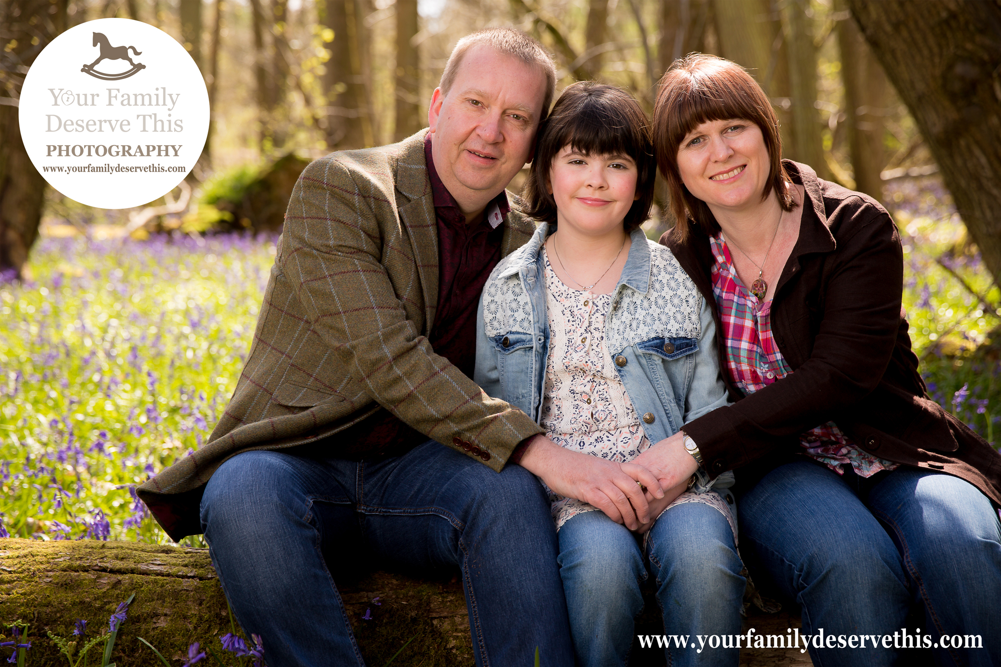 Outdoor Family Portraits in the woods near Tadley, Hampshire.  YourFamilyDeserveThis Photography Studio