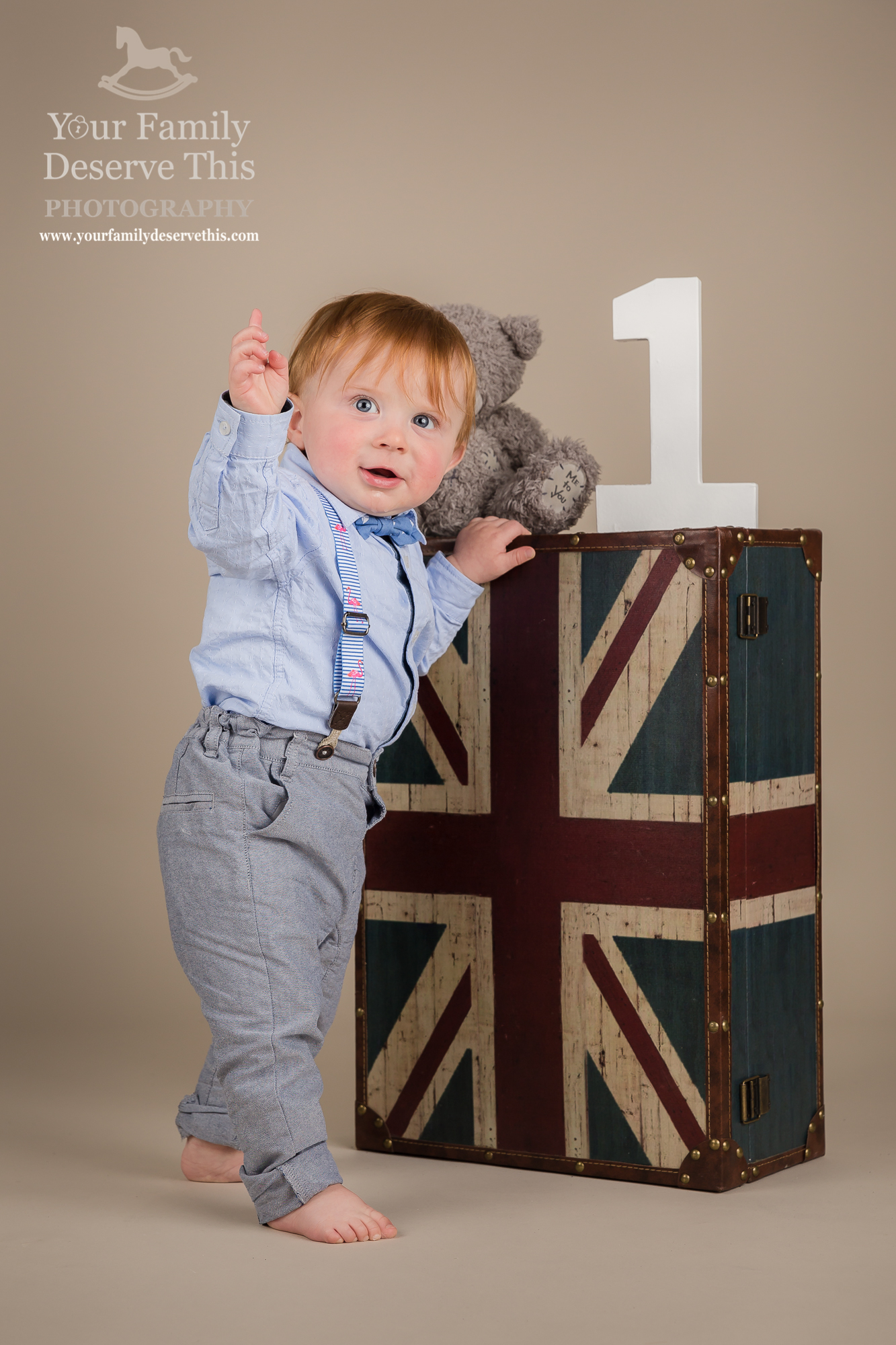 What a superstar! It's as if he is saying 'LOOK... I am 1' Family Portraits  yourfamilydeservethis.com