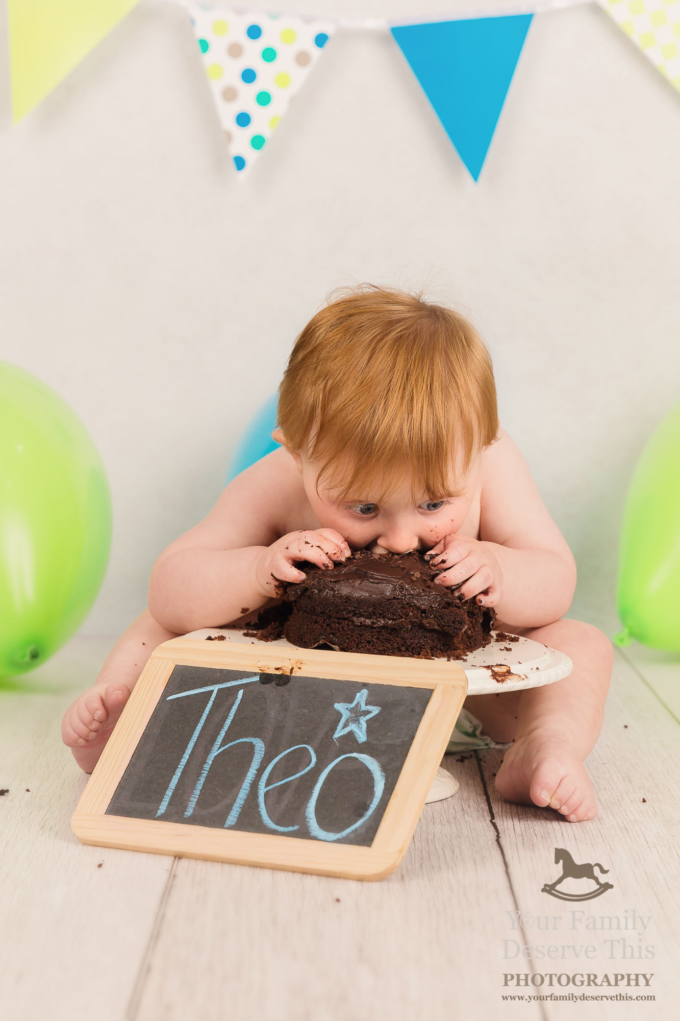 Wow! Theo LOVING the chocolate cake. What a cutie!  yourfamilydeservethis.com