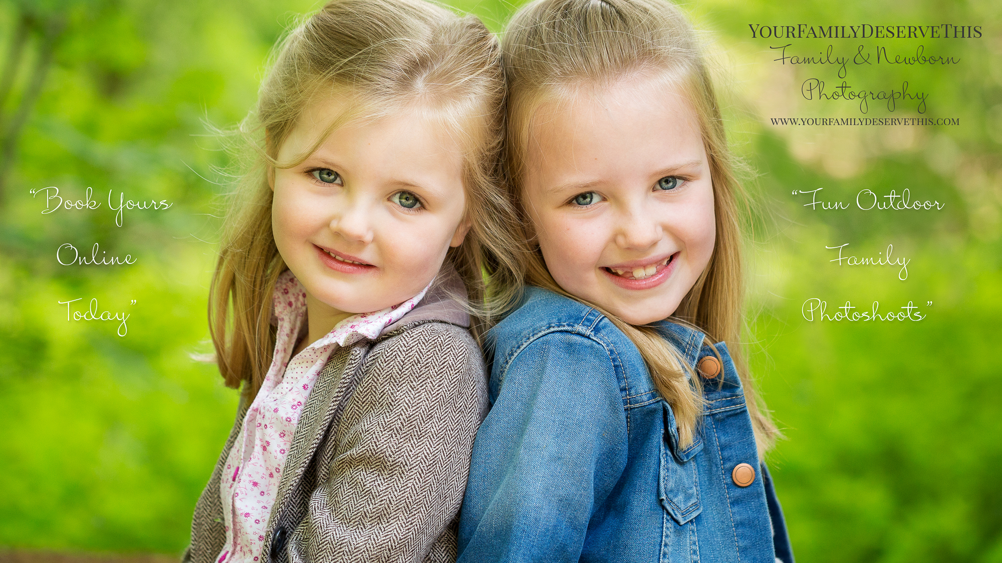 photo of two girls in forest sitting back to back - hampshire photographer.jpg