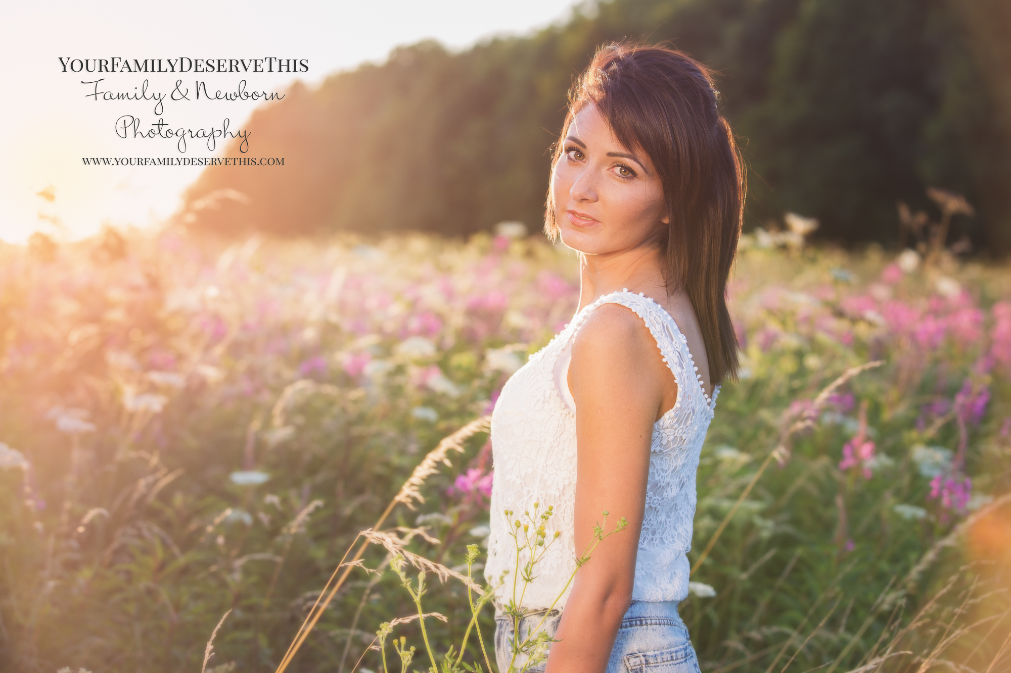Outdoor photoshoots create a very different look to our studio shoots. Our Golden Hour photoshoots at sunset create something very special, like this photo.https://www.yourfamilydeservethis.com