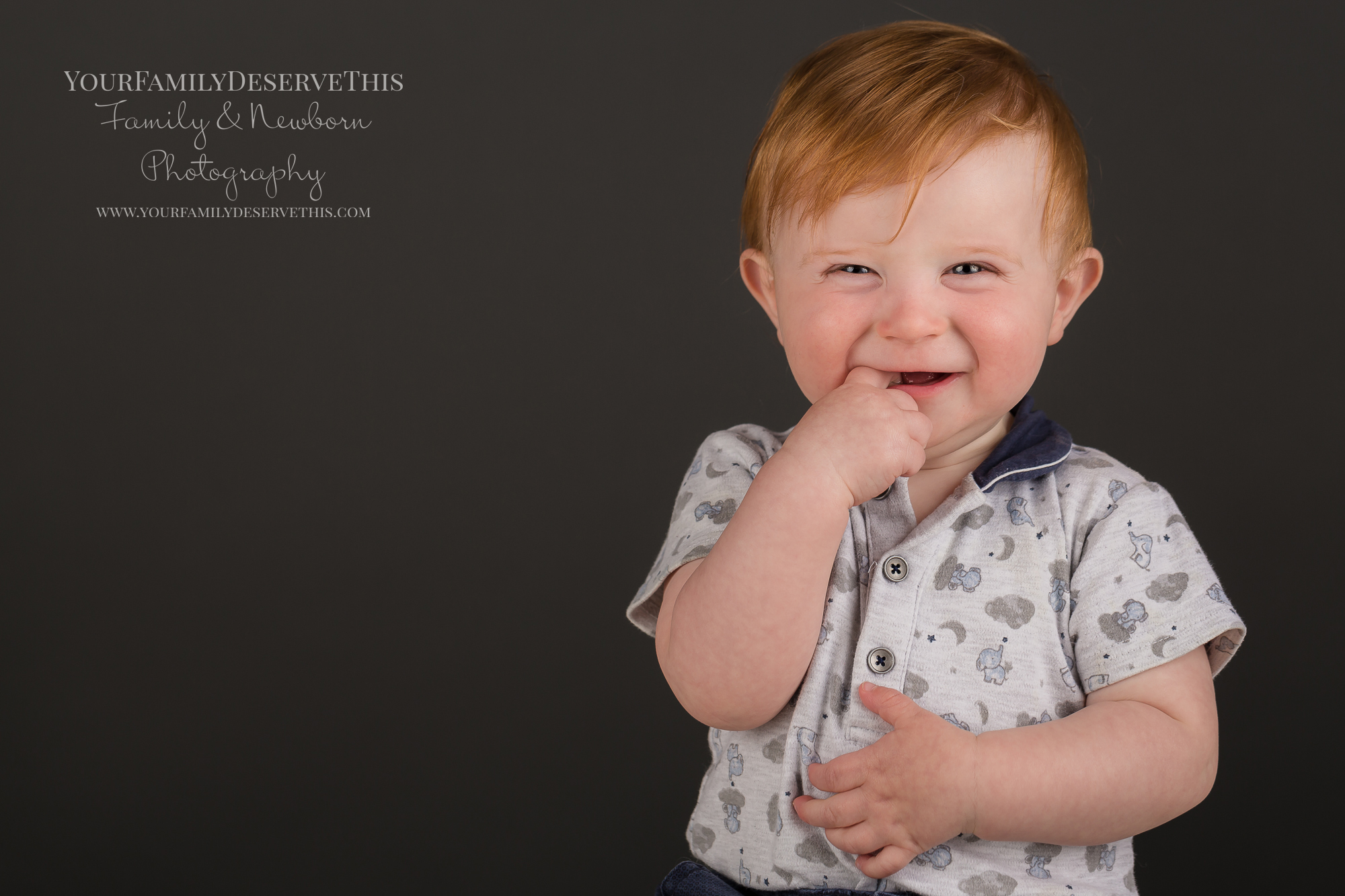 Gorgeous close up portraits of your little one are included in their First Birthday Photoshoot
