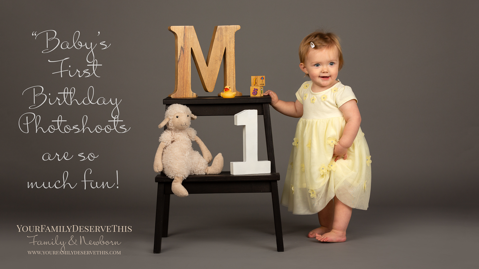 First birthday photoshoots at Photography Studio in Tadley Hampshire