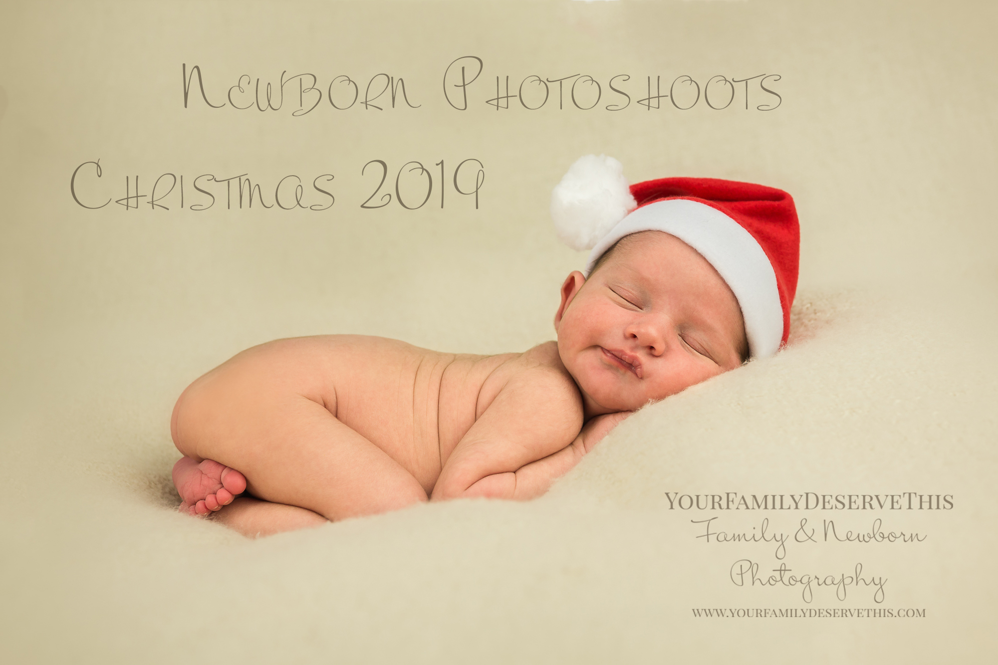Important information about booking in your Newborn Photoshoot in the 2019 Festive Season.