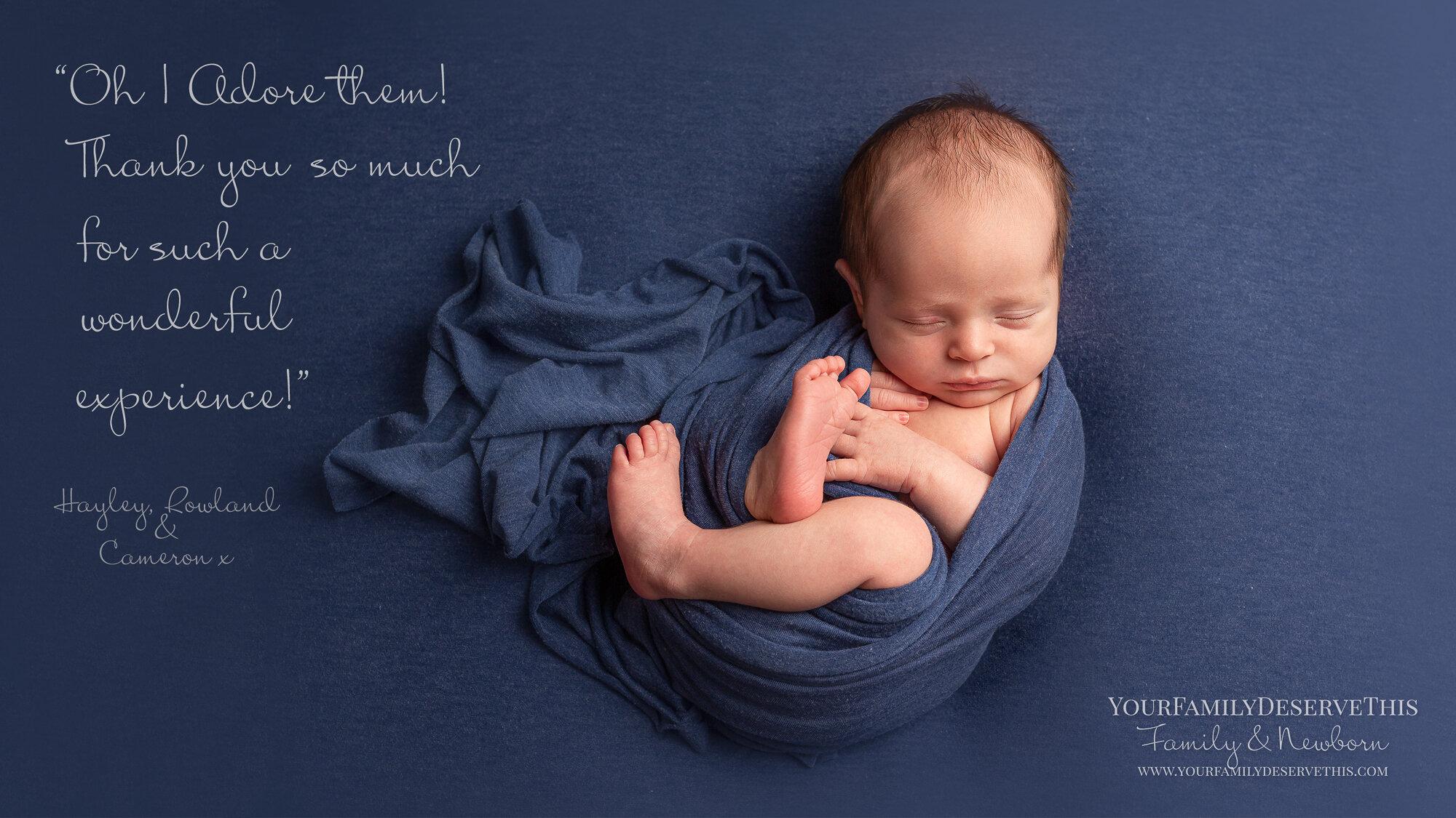 beautiful newborn photography studio in Hampshire