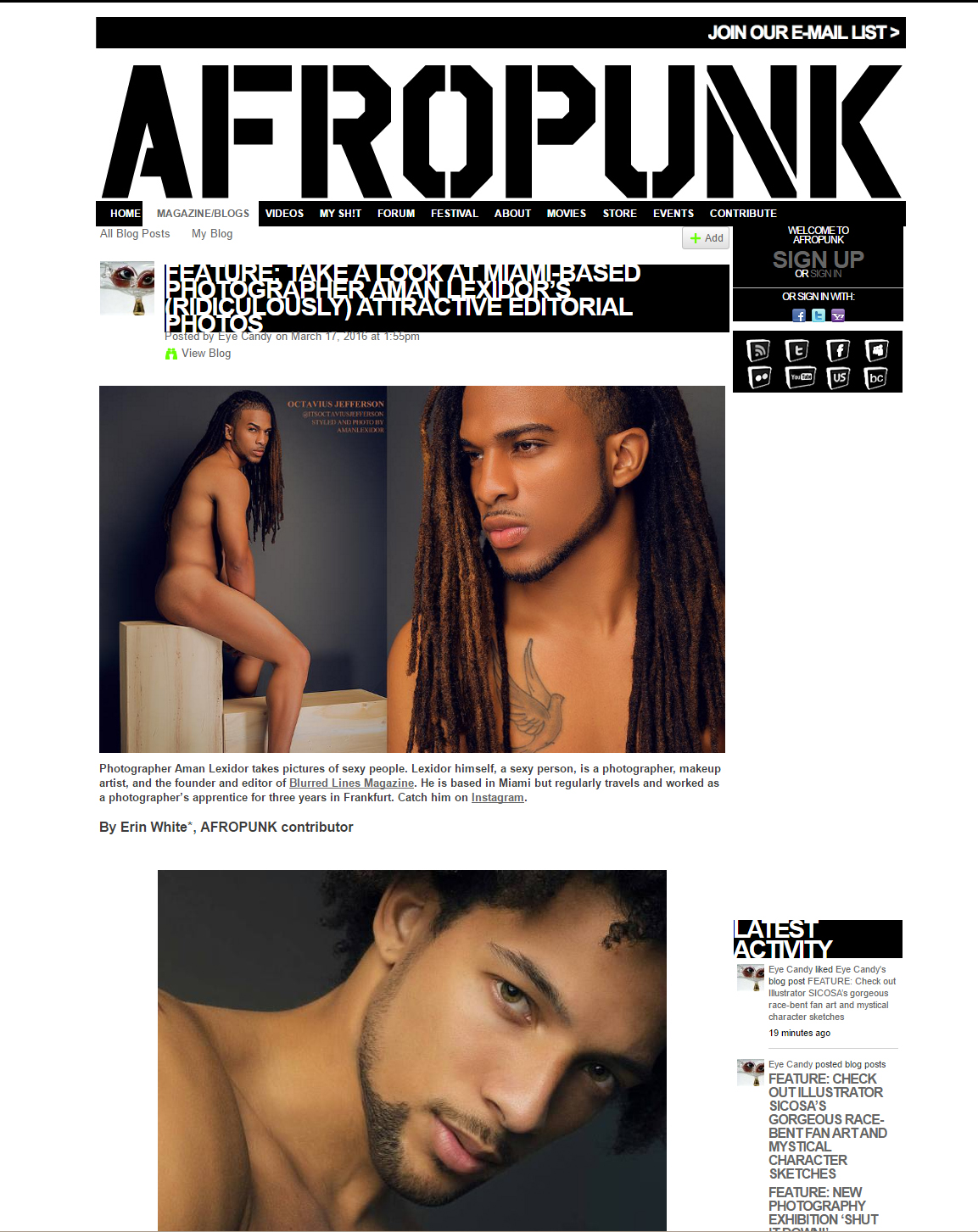 THANKS FOR THE LOVE AND SUPPORT AFRO PUNK