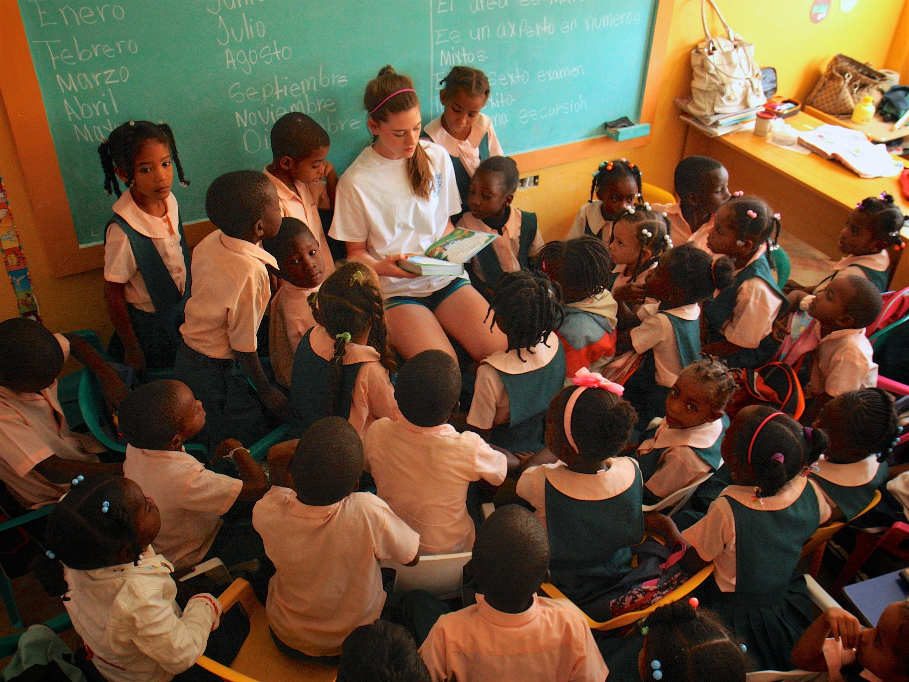 Classroom at the Joe Hartman School in La Romana, Dominican Republic