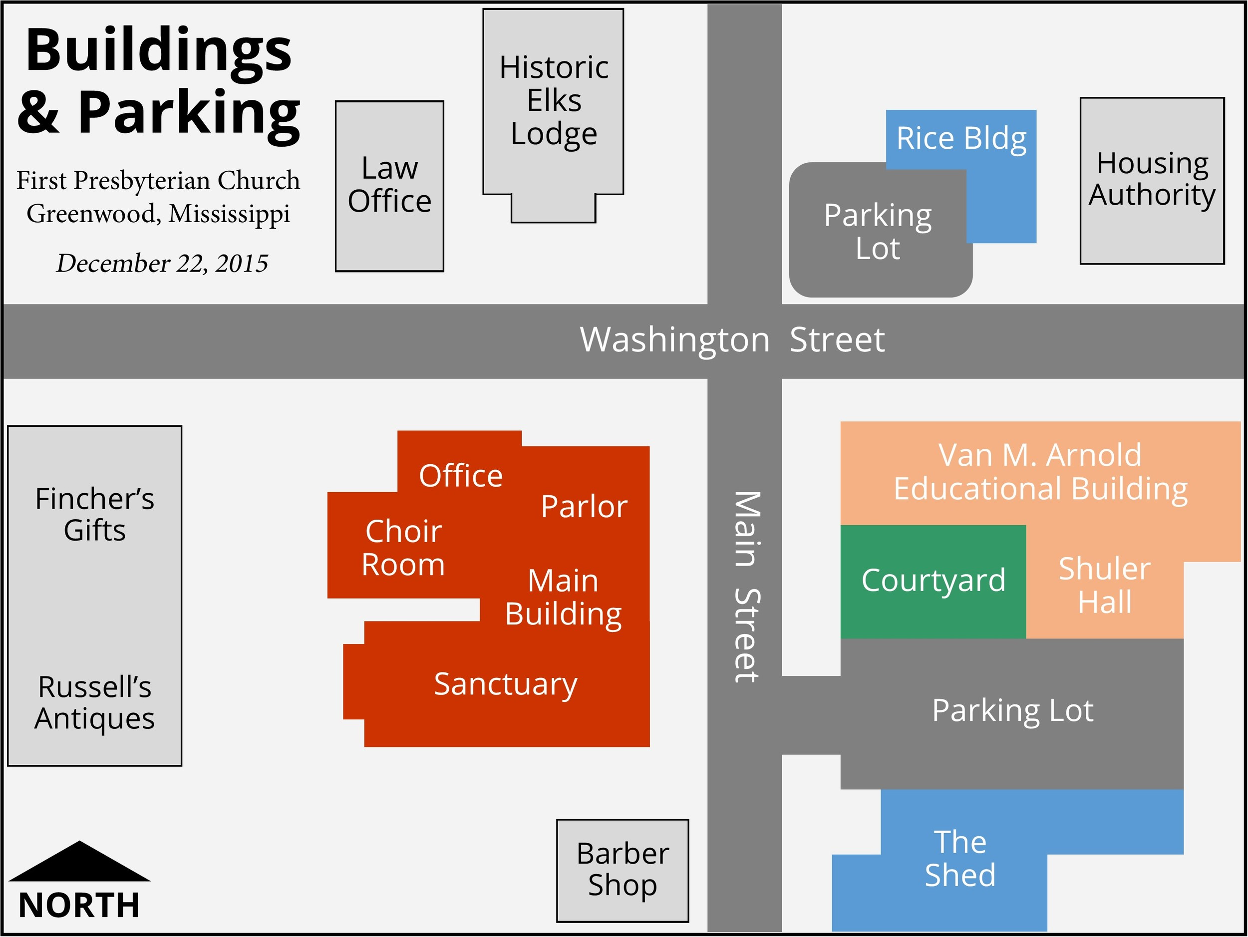 Buildings and Parking Locations