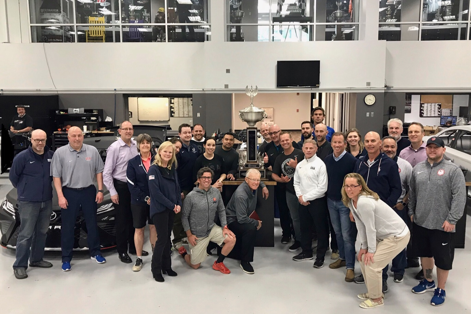 NASCAR's Joe Gibbs Racing in Charlotte, North Carolina. With our partners from USOC delivering the National Team Coach Leadership Program.