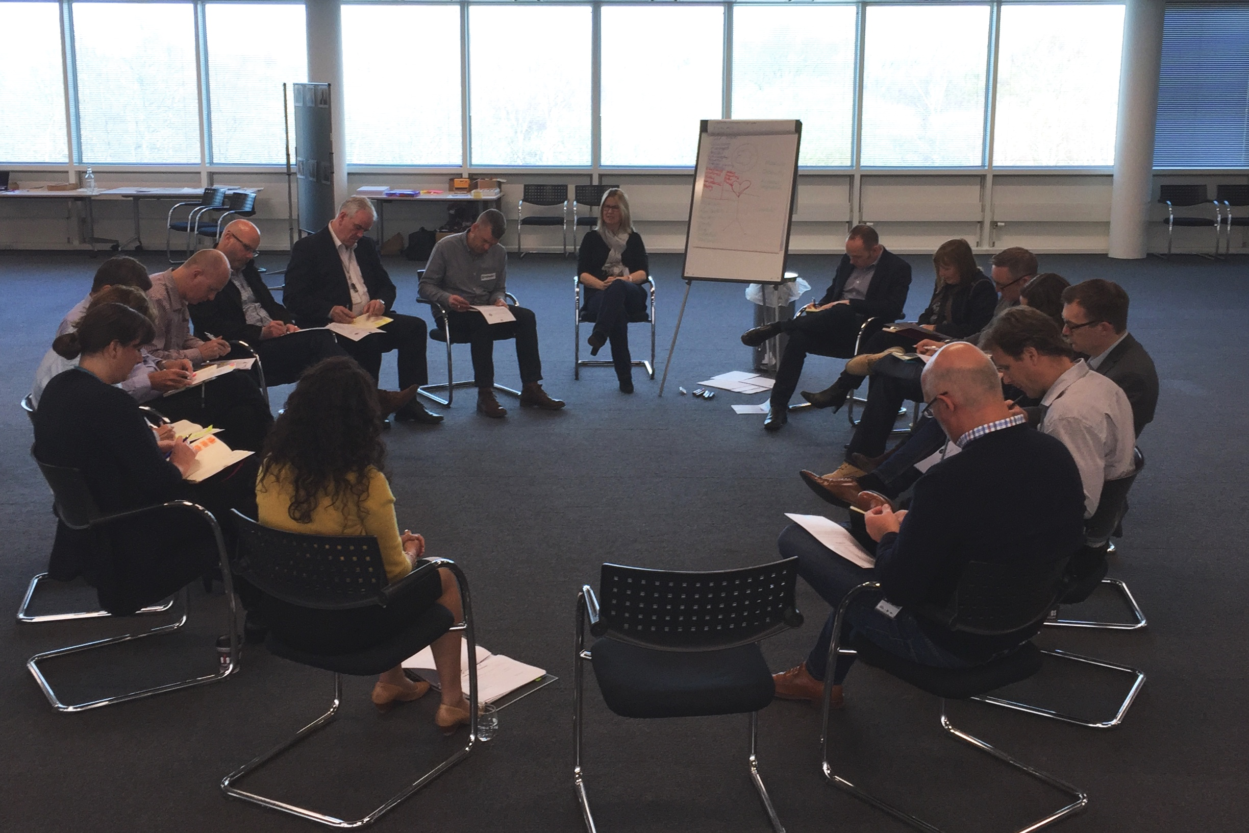 """A leadership group at BMW (UK), shaping their leadership philosophies. Part of company-wide culture development. """"What sort of leader do I want to be?"""""""