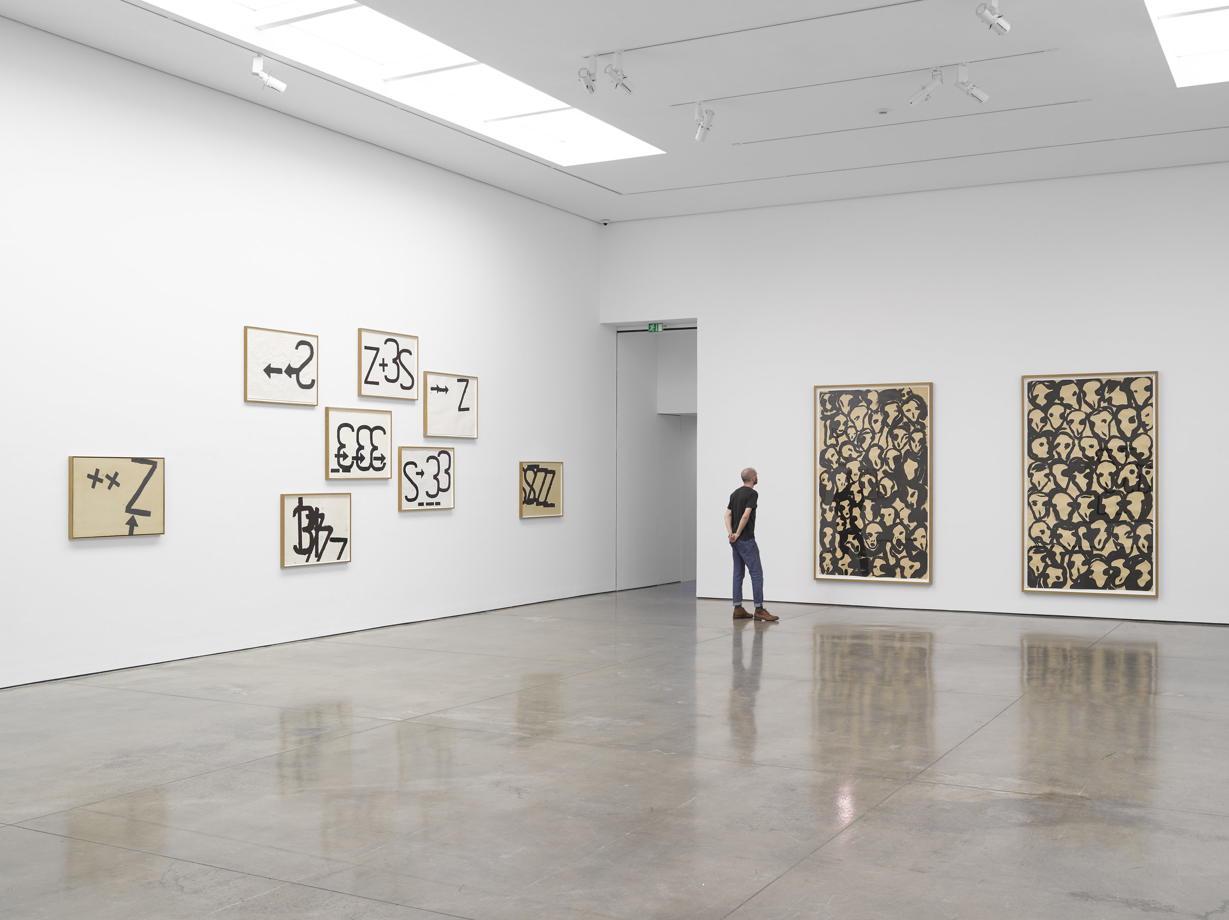 Installation view: Jannis Kounellis at White Cube Mason's Yard -