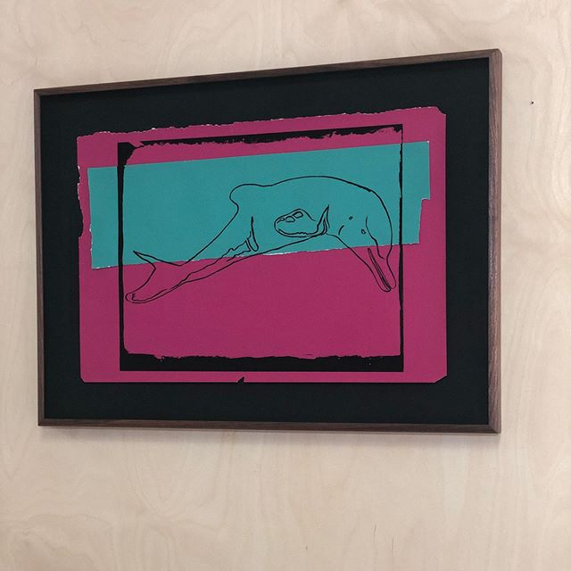 Andy Warhol maquette framed in a walnut roll over with Acacia oil finish. #framing #bespoke #briderandbull #andywarhol #hackney #stokenewington #