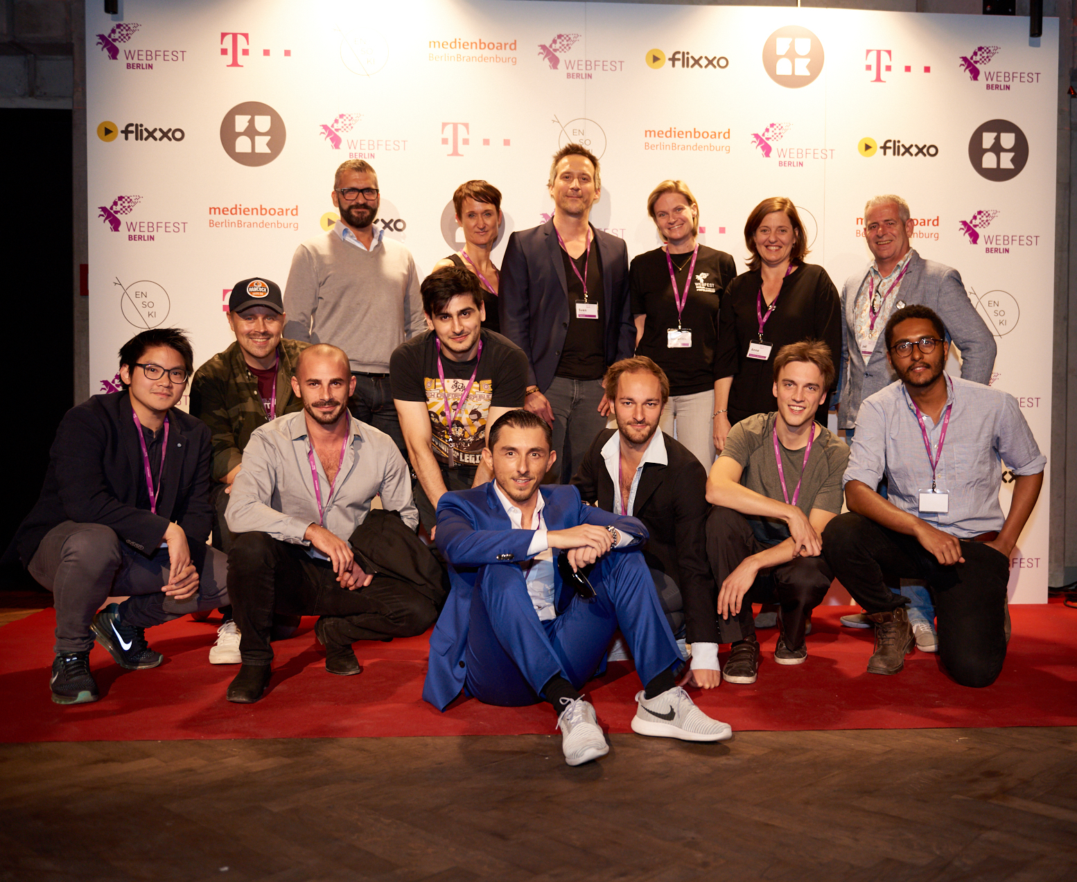 Telekom Digital Short Form Series Pitch finalists and jury.