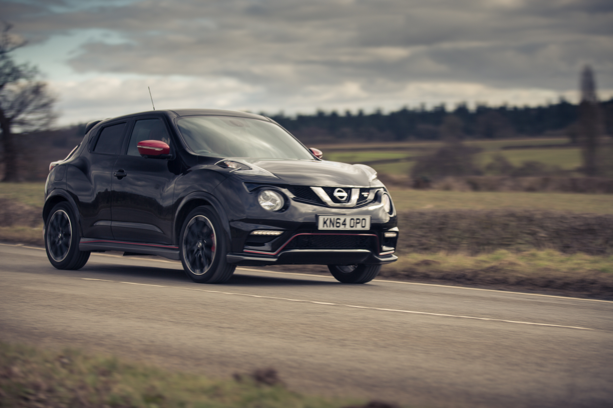 Nissan Juke RS on the B roads of Northamptonshire