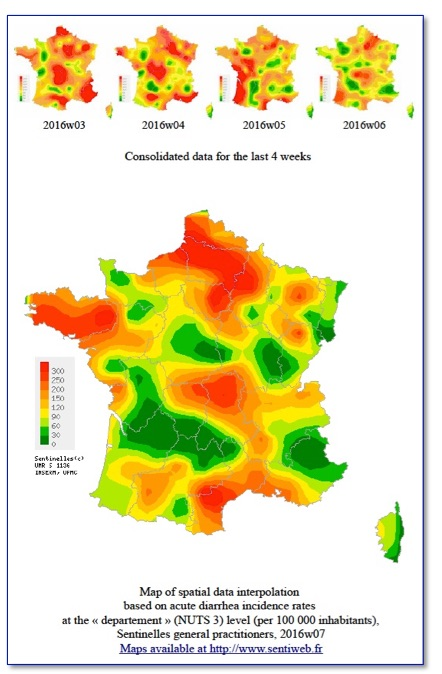 Map-3    Syndromes grippaux  [ French Ministry of Health and Sport ]