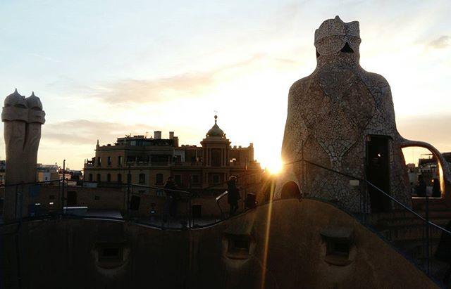 Happy new year from Barcelona!  #barcelona #travel #2018 #gaudí