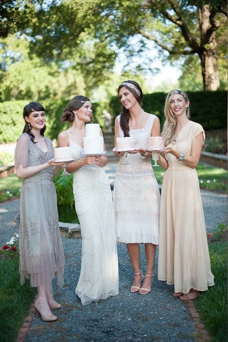 Art Deco Bridal Party - Photo by Jessica Maida Photography
