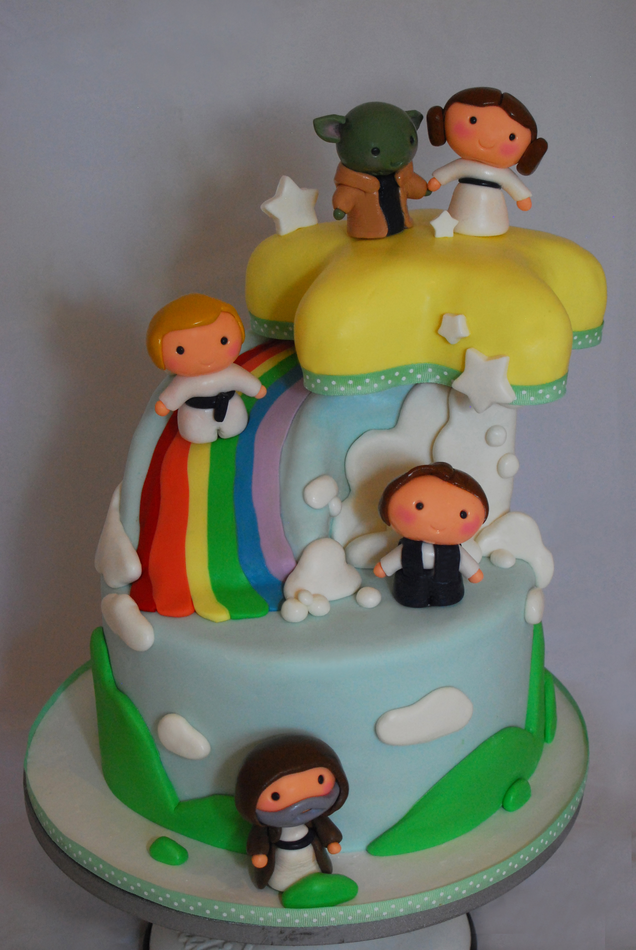 Star Wars Rainbow Cake