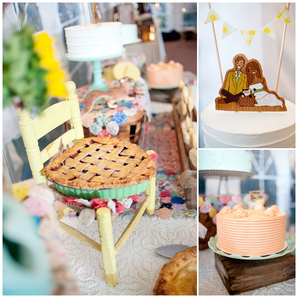 Pie, Buttercream & Wooden Topper - Picture by Jessica Maida Photography