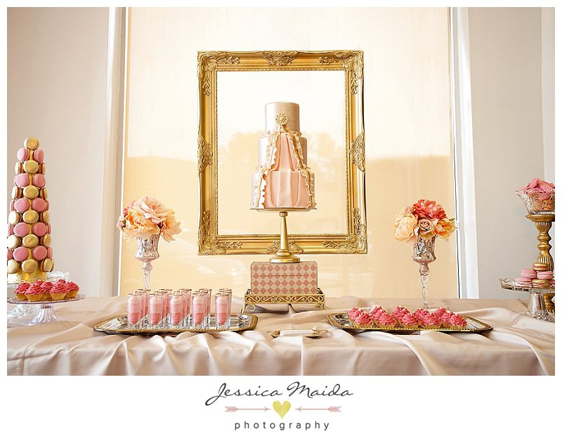 Richmond Bride Ruffle Cake Dessert Table - Picture by Jessica Maida Photography