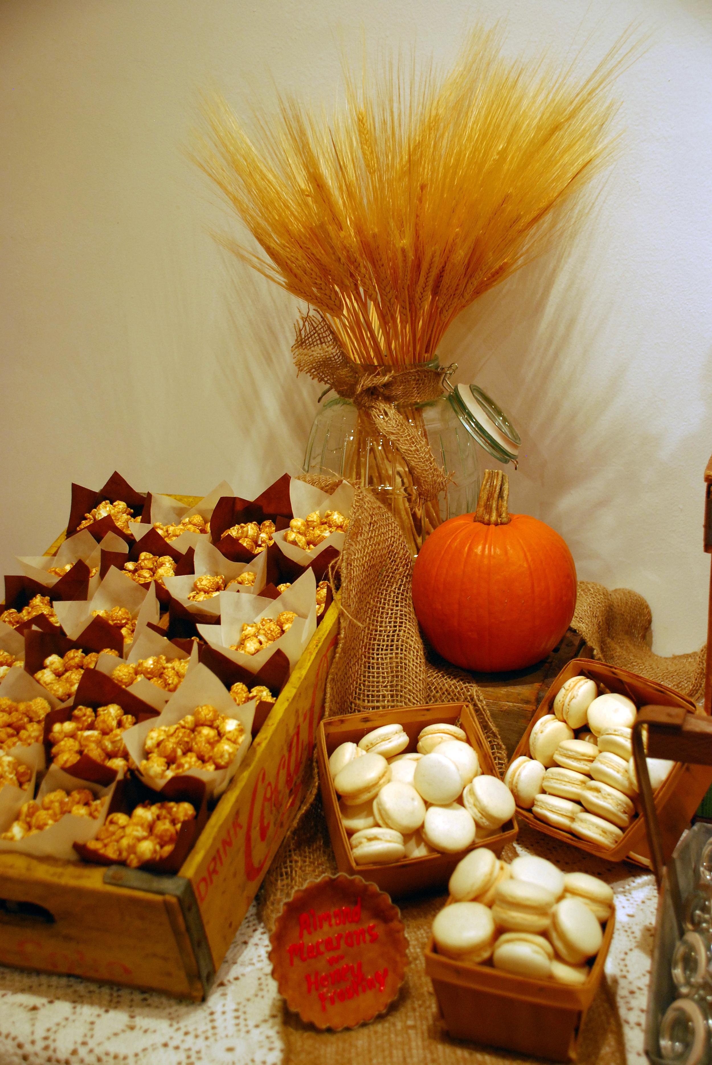 Fall Macaron Dessert Table