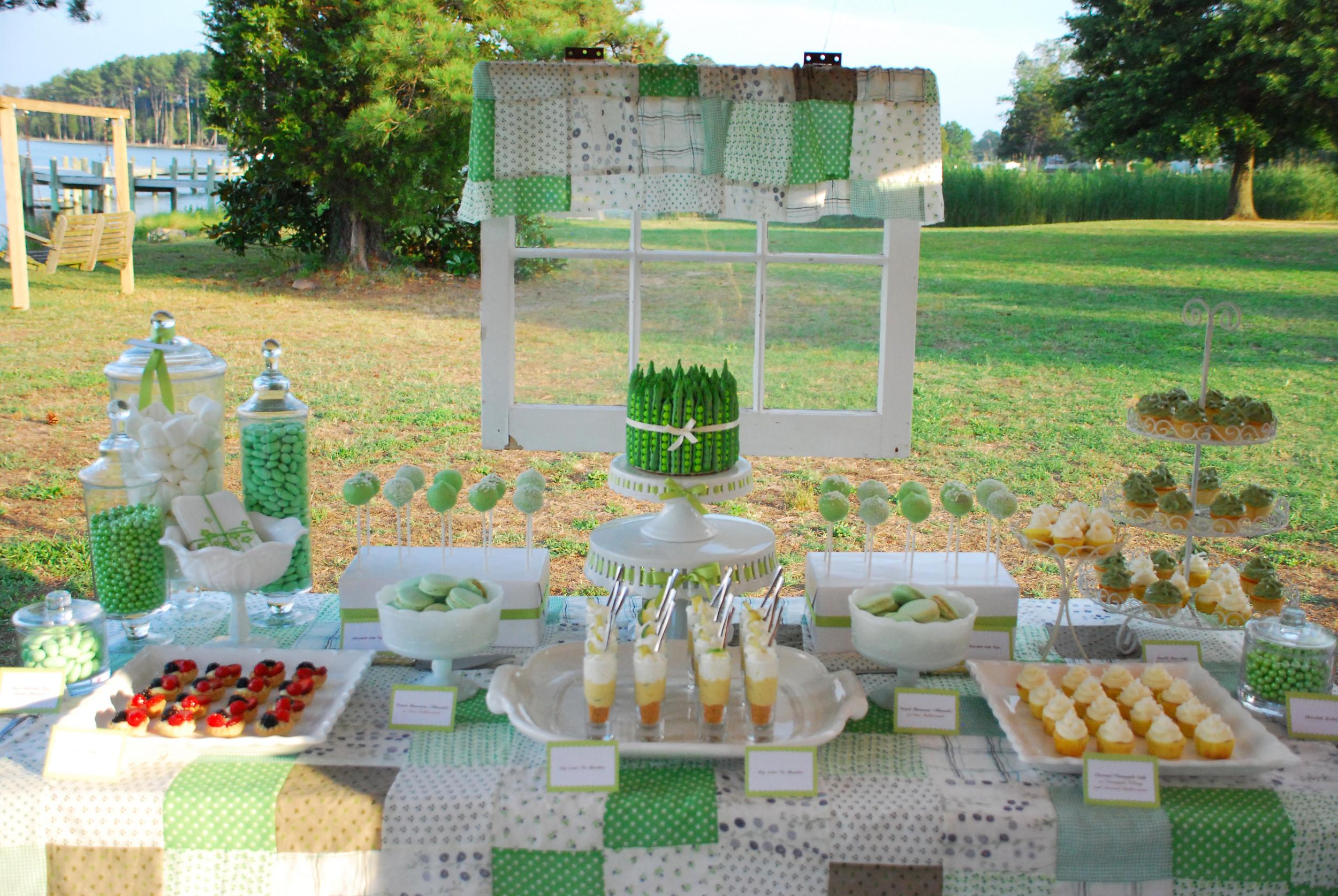 Green Bean Cake Mini Pies Dessert Table