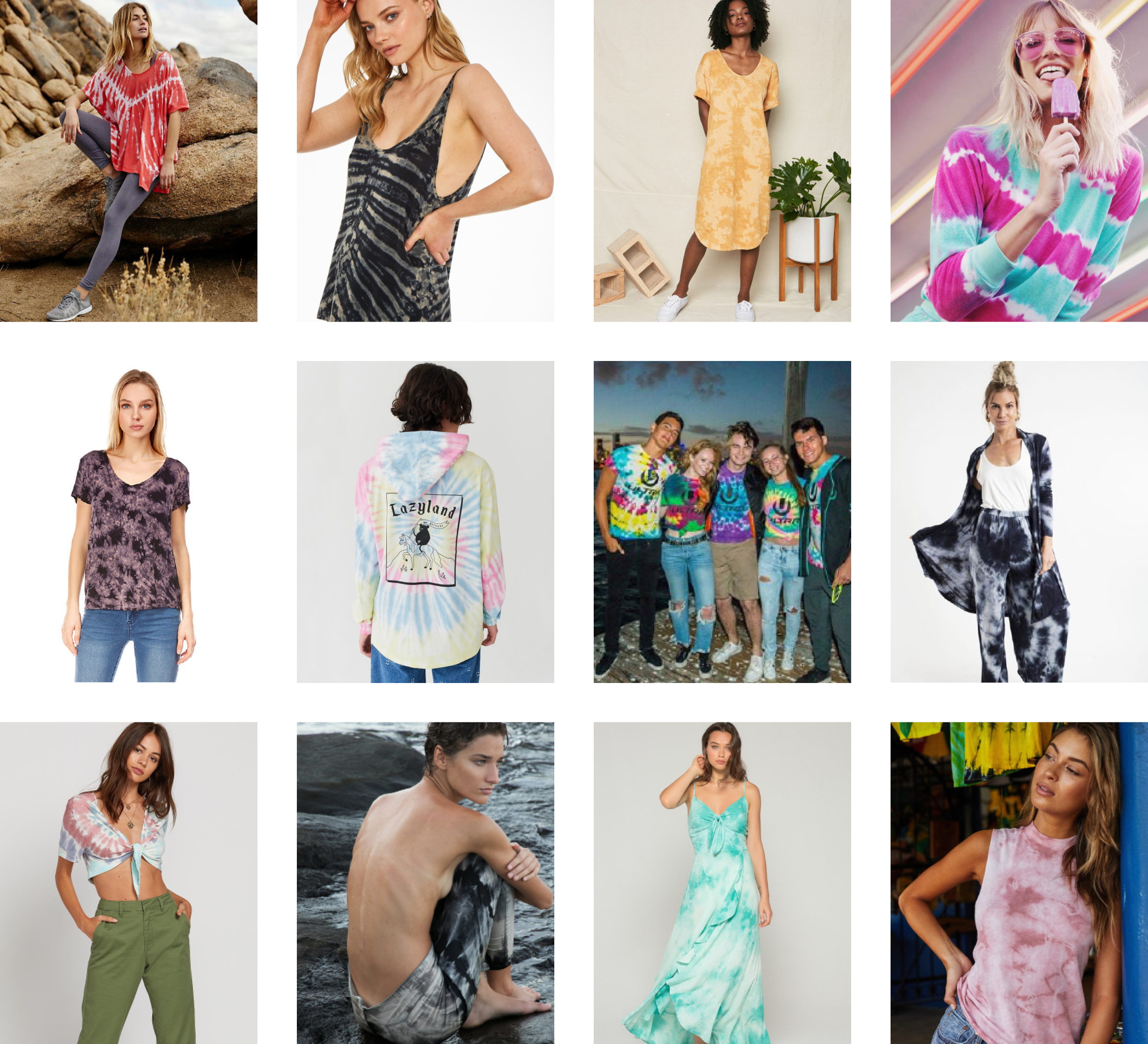 Free People ,  Project Social T ,  Back Beat Rags ,  Wildfox Couture   Best Mountain ,  Lazy Oaf ,  Sojara ,  Yana K   Volcom ,  Enza Costa ,  Band of Gypsies ,  Spiritual Gangster