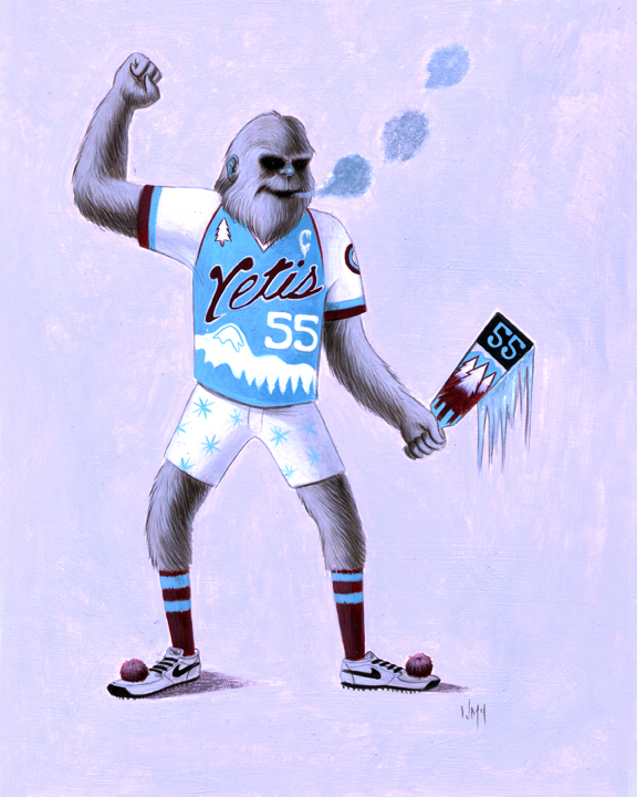 - The Yetis were established in the second wave of Prigus teams inducted into the sport's league between 1930-1932. The Yetis were among the East Coast surge of Prigus teams that included the Glenn Falls Mohawks, the Knoxville Lumberjacks and the Wilmington Mud Sharks before it made its way for the Midwest three years later. The Yetis found their home in Burlington in 1930 right on the coast of Lake Champlain. Local drunks would claim they saw mountain men covered in white fur roaming the town in the winter evenings. The folklore became legend, and the legend eventually became a Prigus team. During the beginning of the regulation season the temperatures usually drop so drastically that the bone chilling winds are a home advantage to the Yetis who became adapted to these conditions over the years. Their main rivals right across the lake, the Glen Falls Mohawks, share this temperature drop advantage as well. The Yetis play in the Burlington Mountain Top Arena (BMTA) located on the waterfront of Lake Champlain.