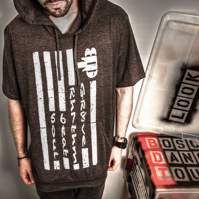 New stuff. 👊😎 BDT Hooded T-Shirt in black, gray, & white.  BDTclothing.com #BDTclothing #BDT #BoscoDance #iLookFly @boscodance @lookfly