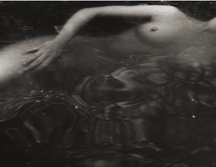 Tiffany #12 - Swimming , 1998  Platinum/Palladium photograph.  11 5/16 x 15 3/4 inches