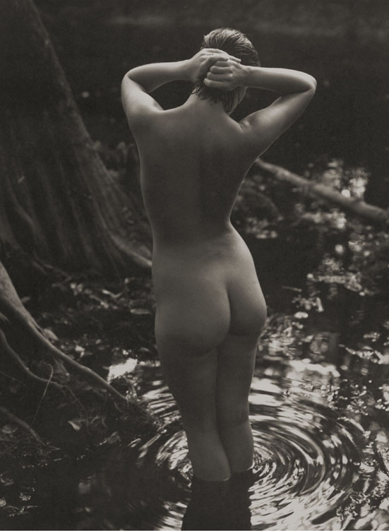 Kathryn #4 - Wringing Her Hair , 1996  Platinum/Palladium photograph  11 x 15 13/16 inches
