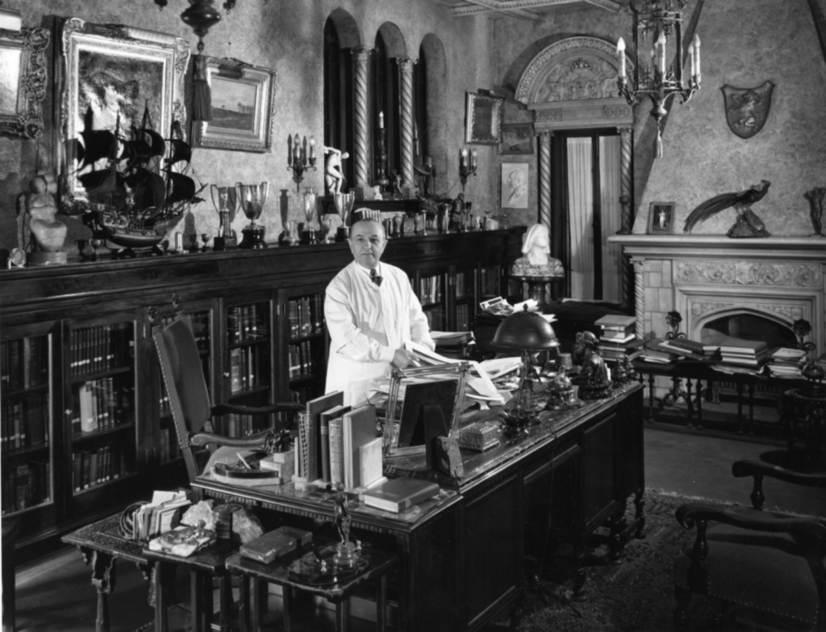 Dr. Max Thorek in his Study , 1930s  Gelatin silver photograph.   7 3/8 x 9 1/2 inches