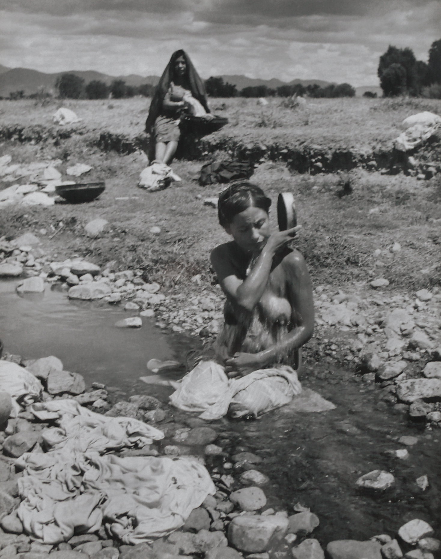 Tehuantepec Bathers , 1946-7  Gelatin silver photograph on mount.   13 3/8 x 10 9/16 inches