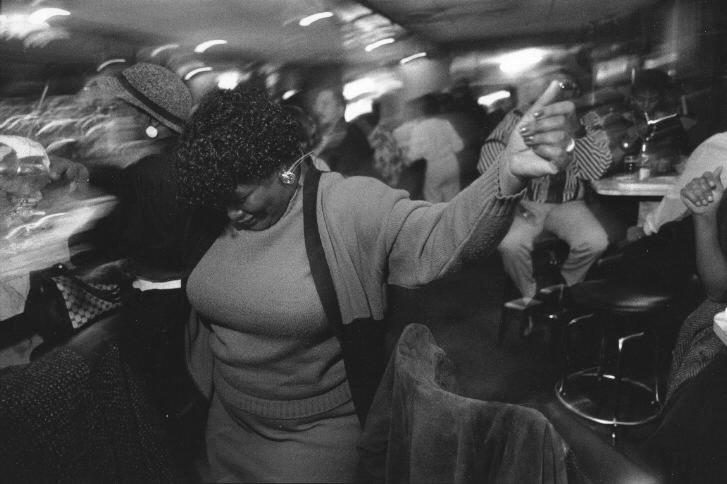 Divorced Women's Club at Grady's , 1988  Gelatin silver photograph.   7 3/4 x 12 inches