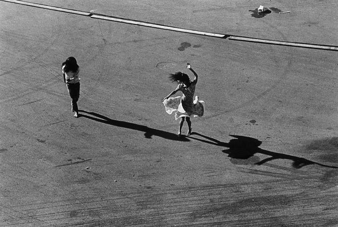 """""""La danza sobre la misma linea"""", Hollywood, FL , 1972  Gelatin silver print.  11 x 14 inches (paper)"""