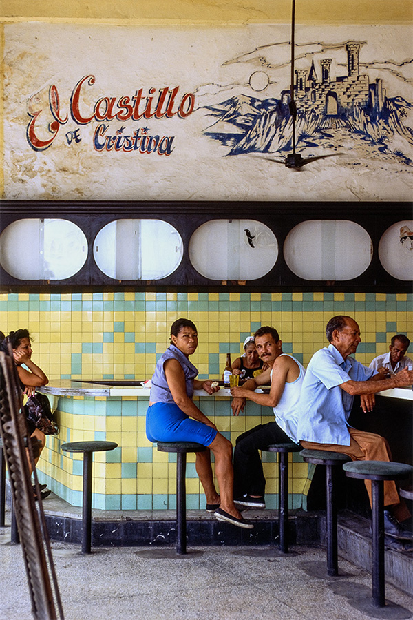 """El Castillo Bar , Havana, Cuba, 1999  Archival Inkjet Print  20 x 13 3/8"""" $800"""