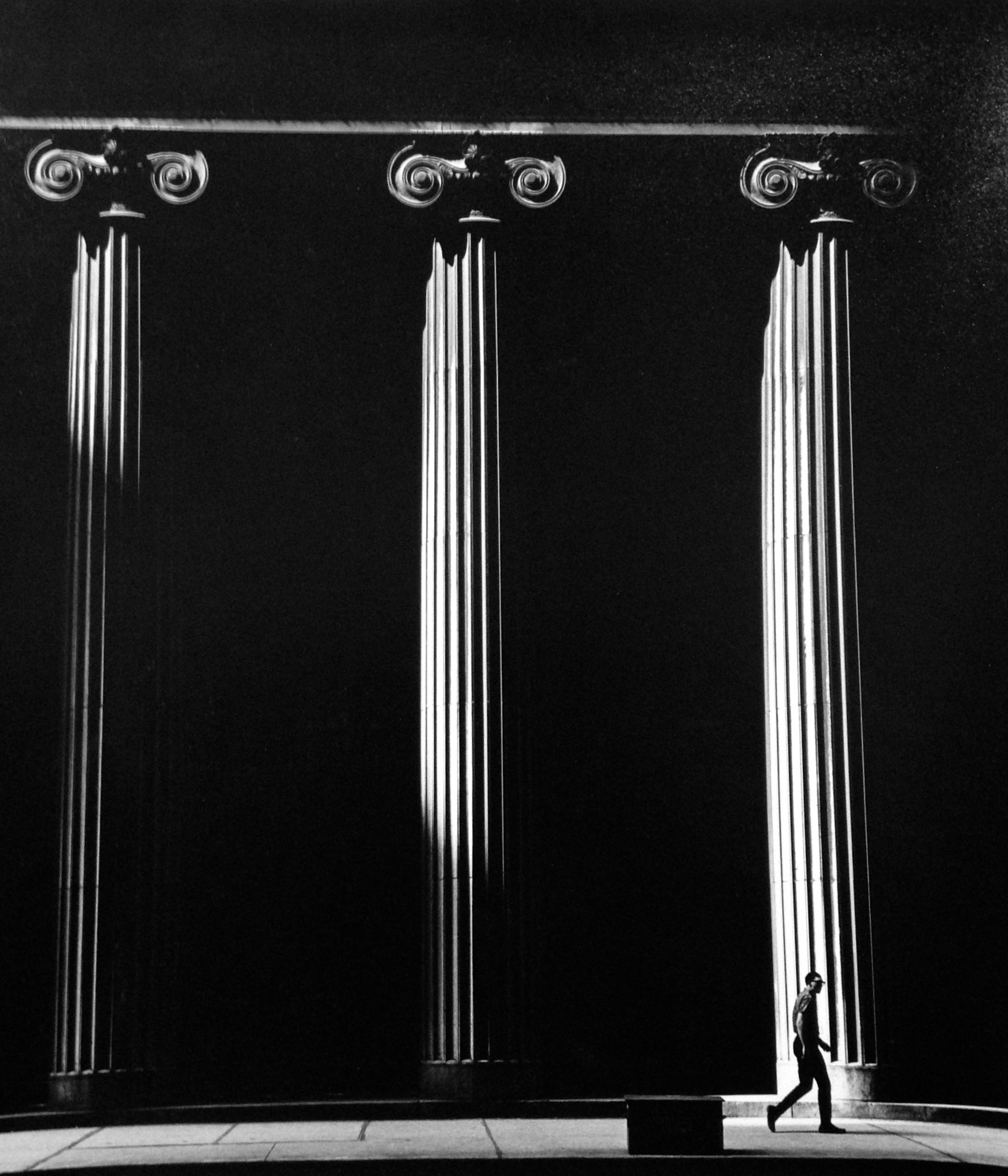 "Continental Bank , Chicago, 1967  Silver Gelatin Photograph  14 5/16 x 12 9/16"" $750"