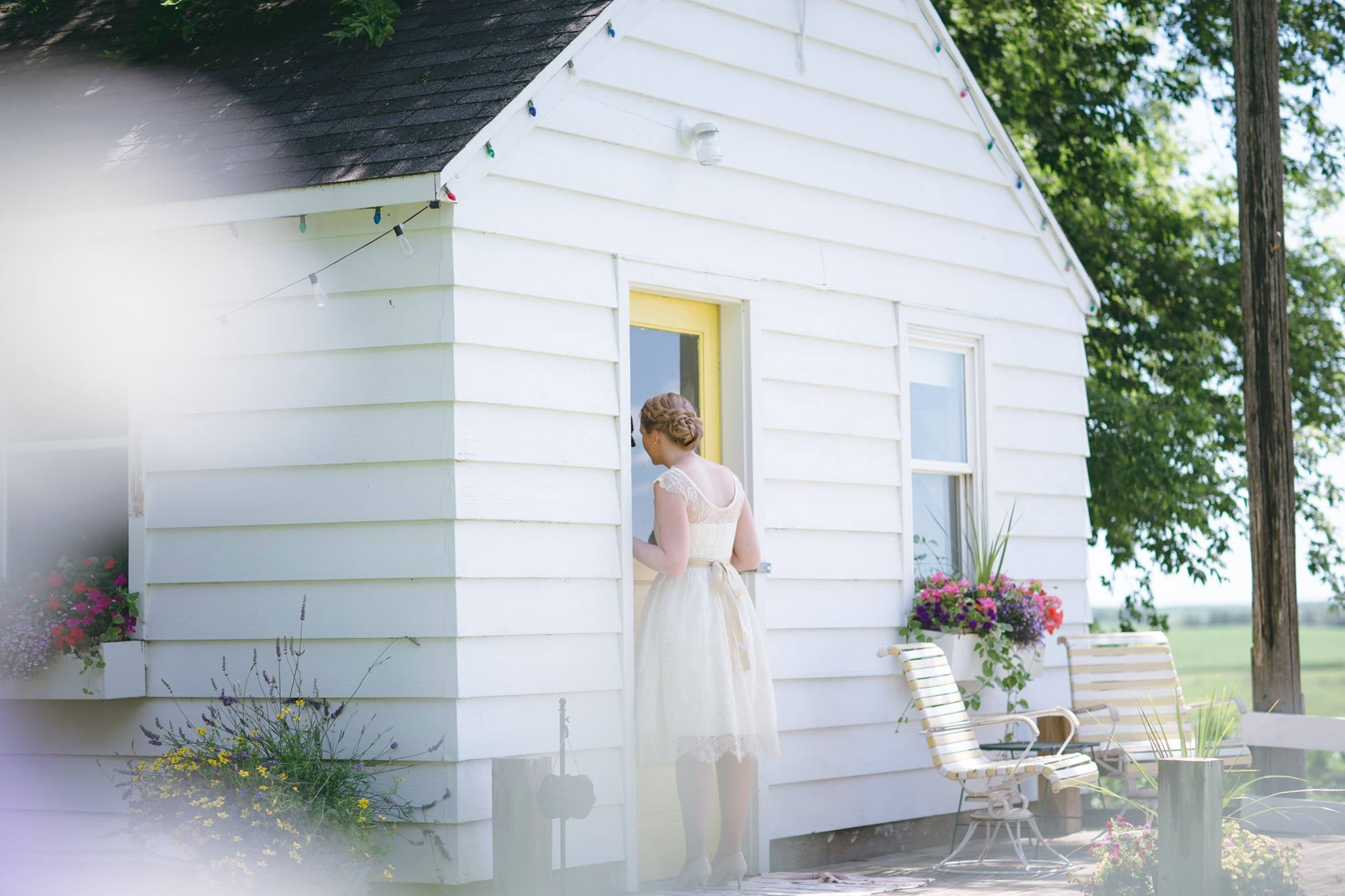 Wedding First Look at Legacy Hill Farm