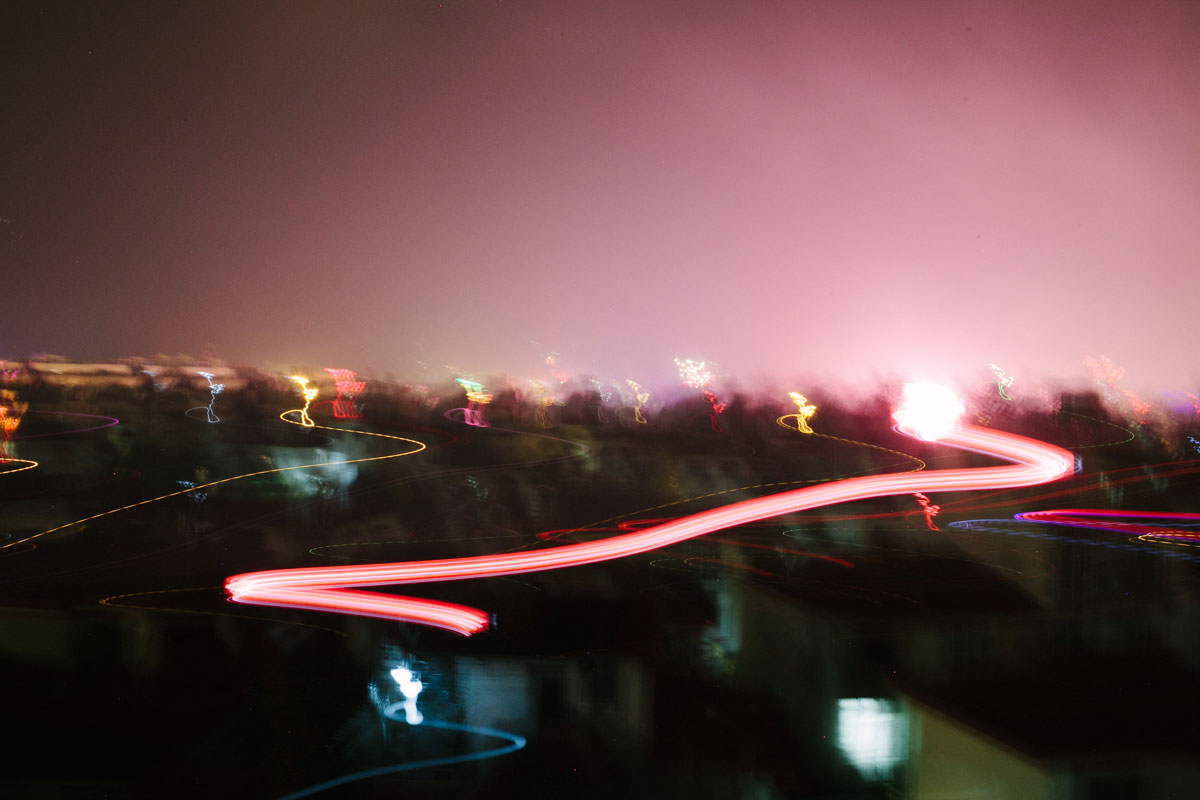 This is what a hand-held slow exposure looks like when you have to move quick. :)