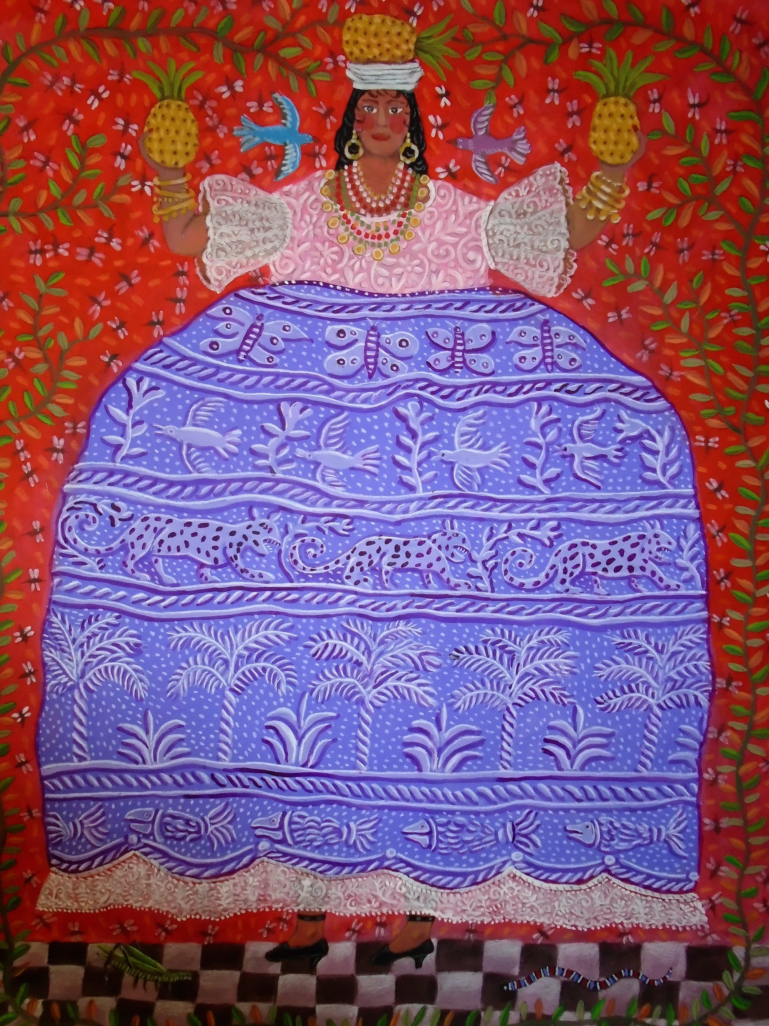 danza de las piñas.,(tehuana).1.00x1.30mts.(40inchs.x51inchs.) 002.jpg