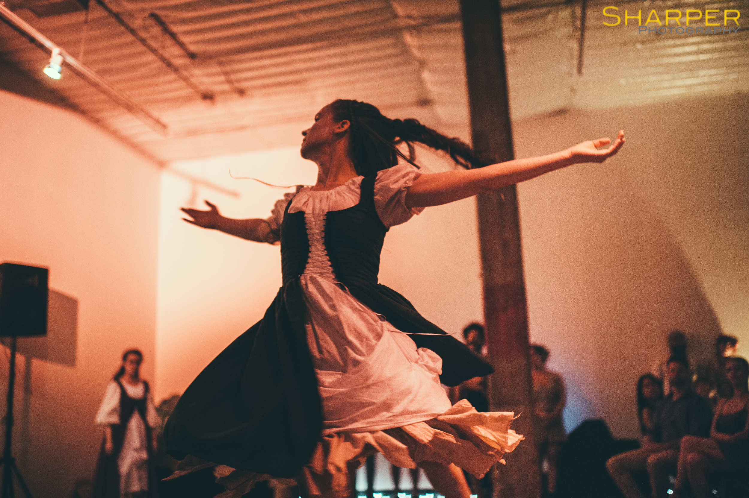 Dancer twirls in Austin theater event with Shakespeare theme
