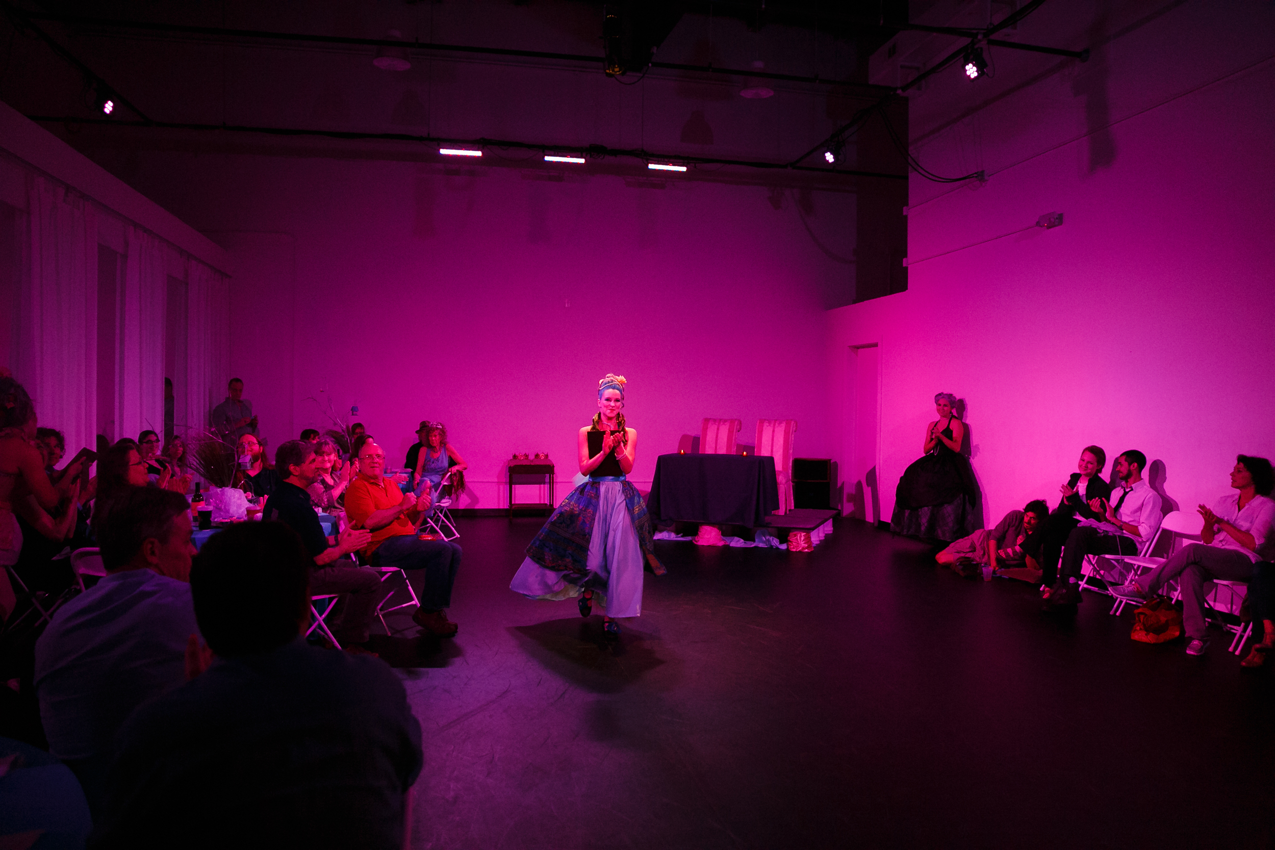 Indoor performance of immersive dance theater in Austin TX