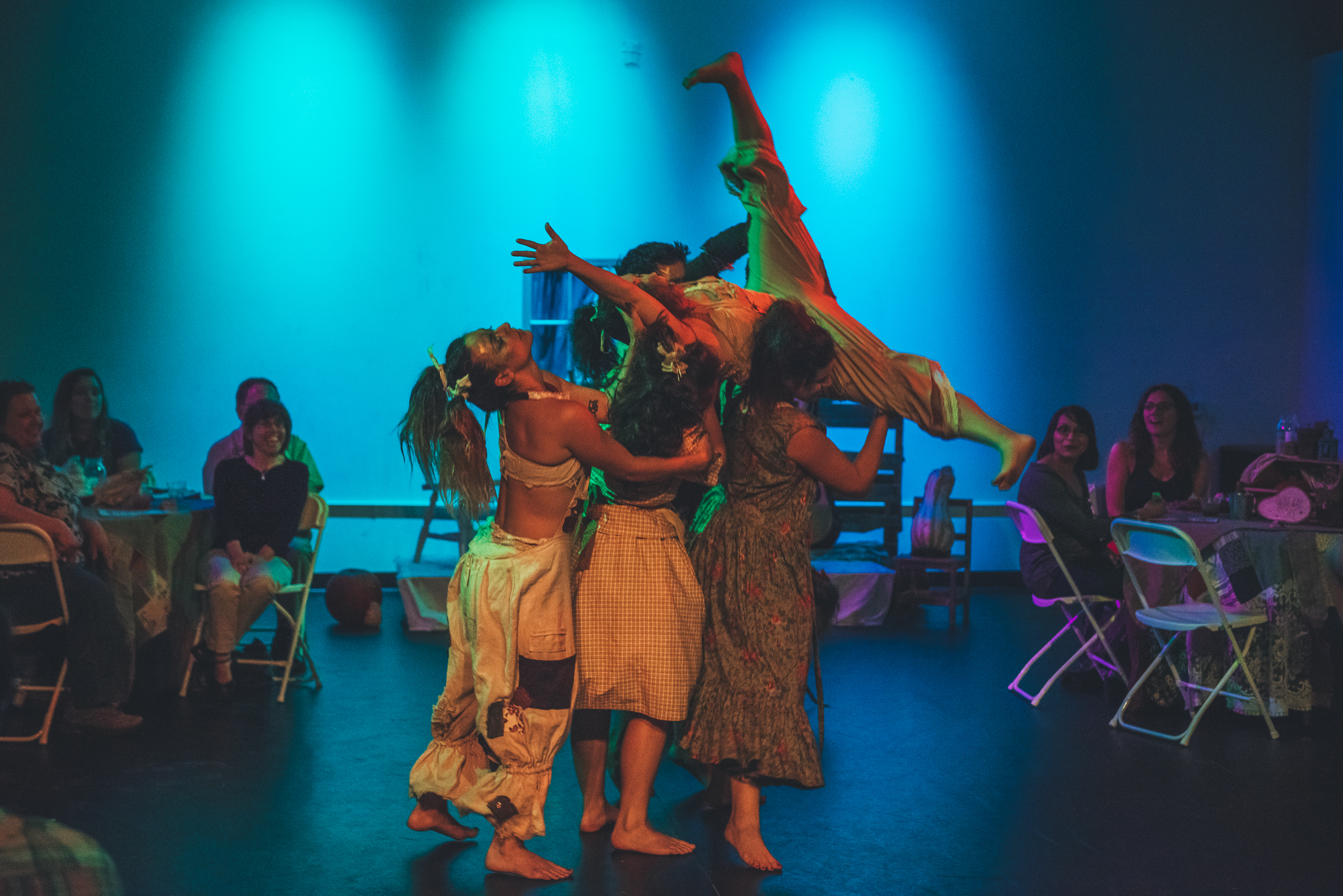 Dancers performing at Wild West theater show in Austin