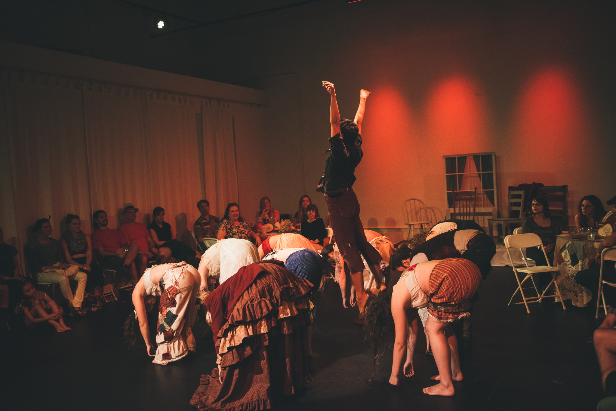 Dance theater company performs in haunted Wild West show