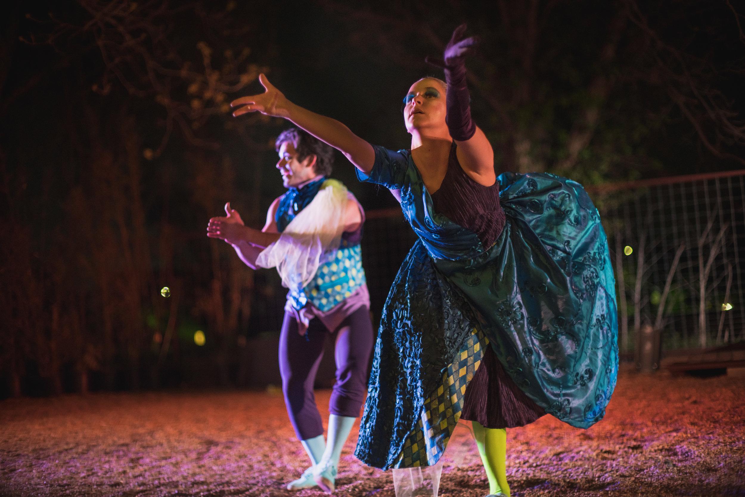 Renaissance dancers at Austin event