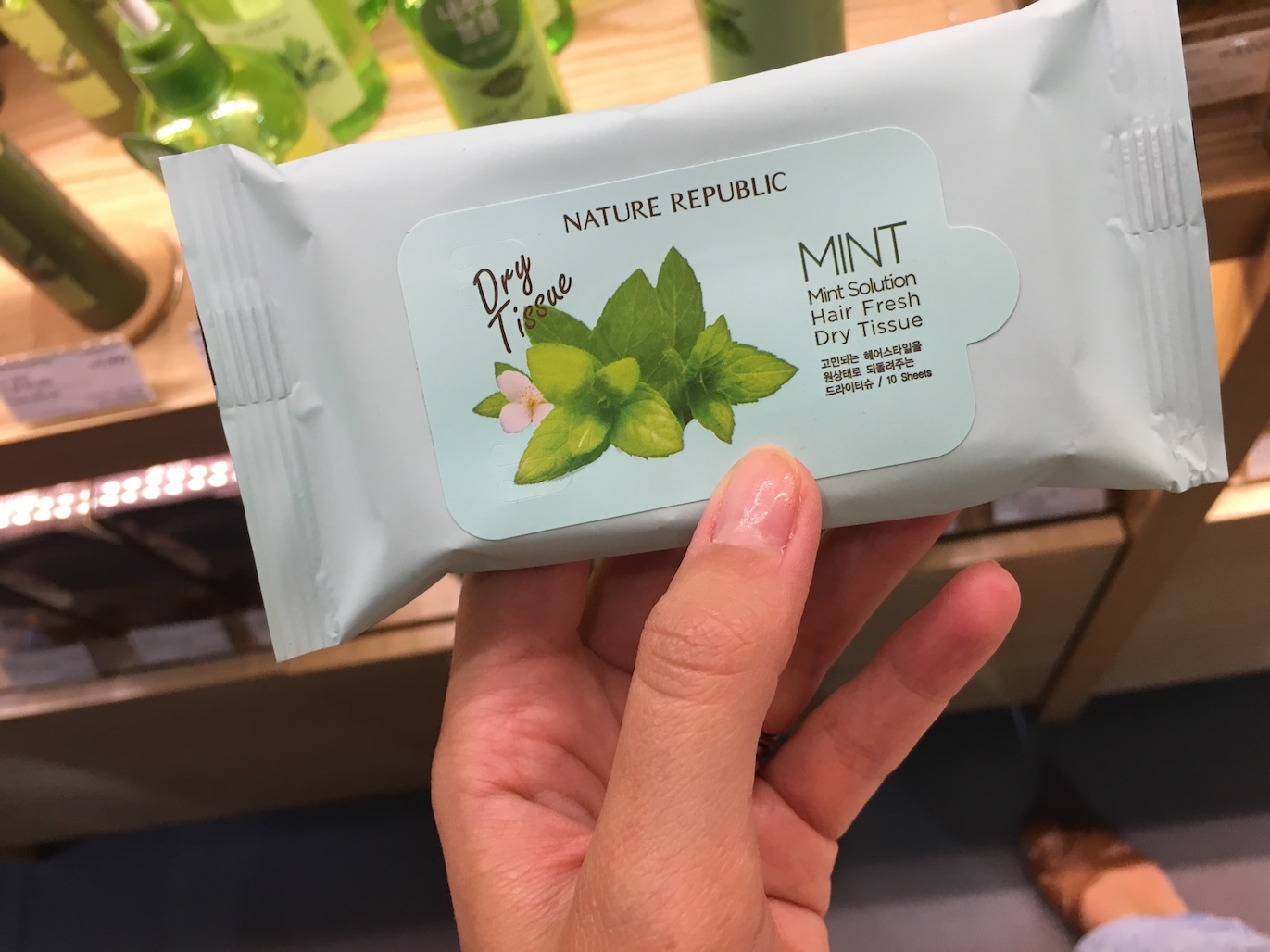 Nature Republic Mint Solution Hair Fresh Dry Tissue