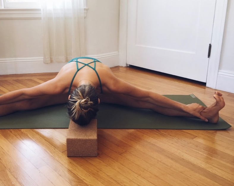Me on my beloved Jade Yoga Mat