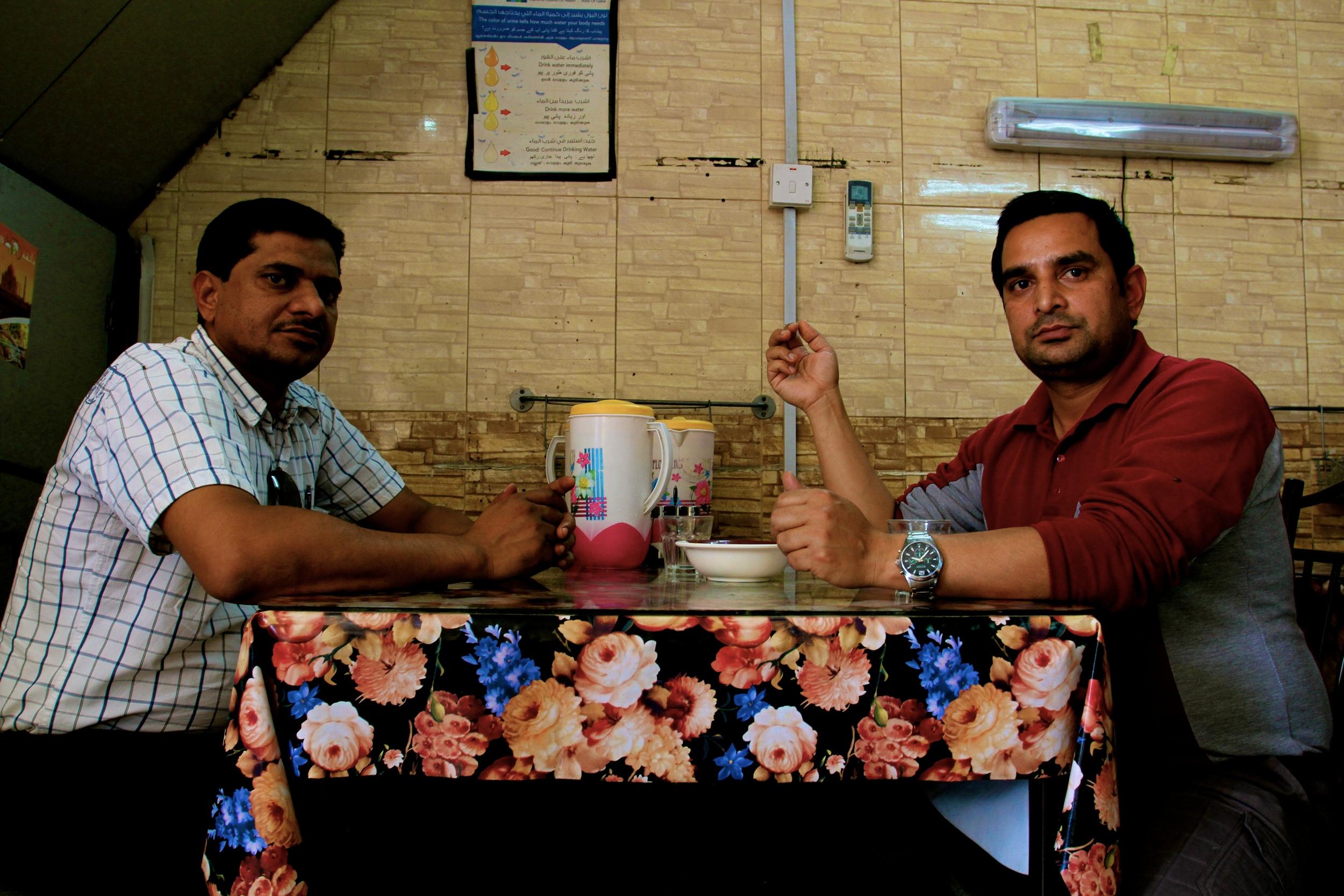 Customers enjoying  Zaiqa's popular  Hyderabadi menu.