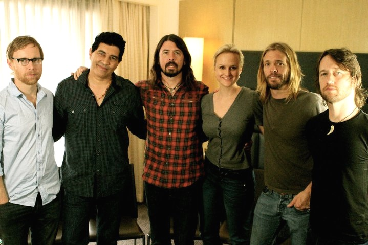 Producing an interview with the Foo Fighters for Seven Network Australia